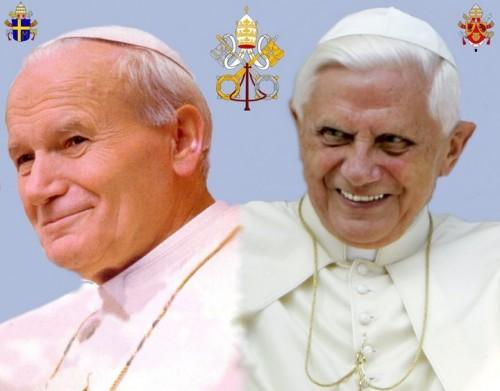 Giovanni PaoloII e Benedetto XVI.jpg